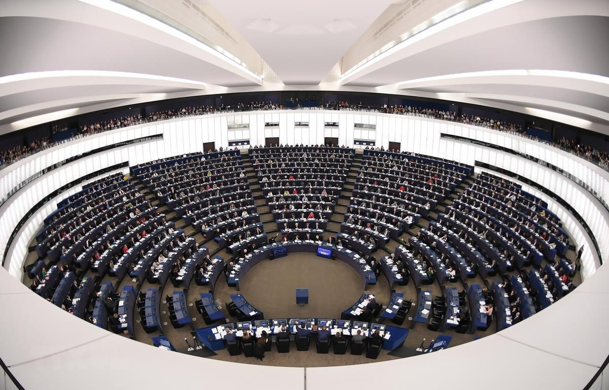 Toàn cảnh một phiên họp Nghị viện châu Âu ở Strasbourg của Pháp. (Ảnh: AFP/TTXVN)