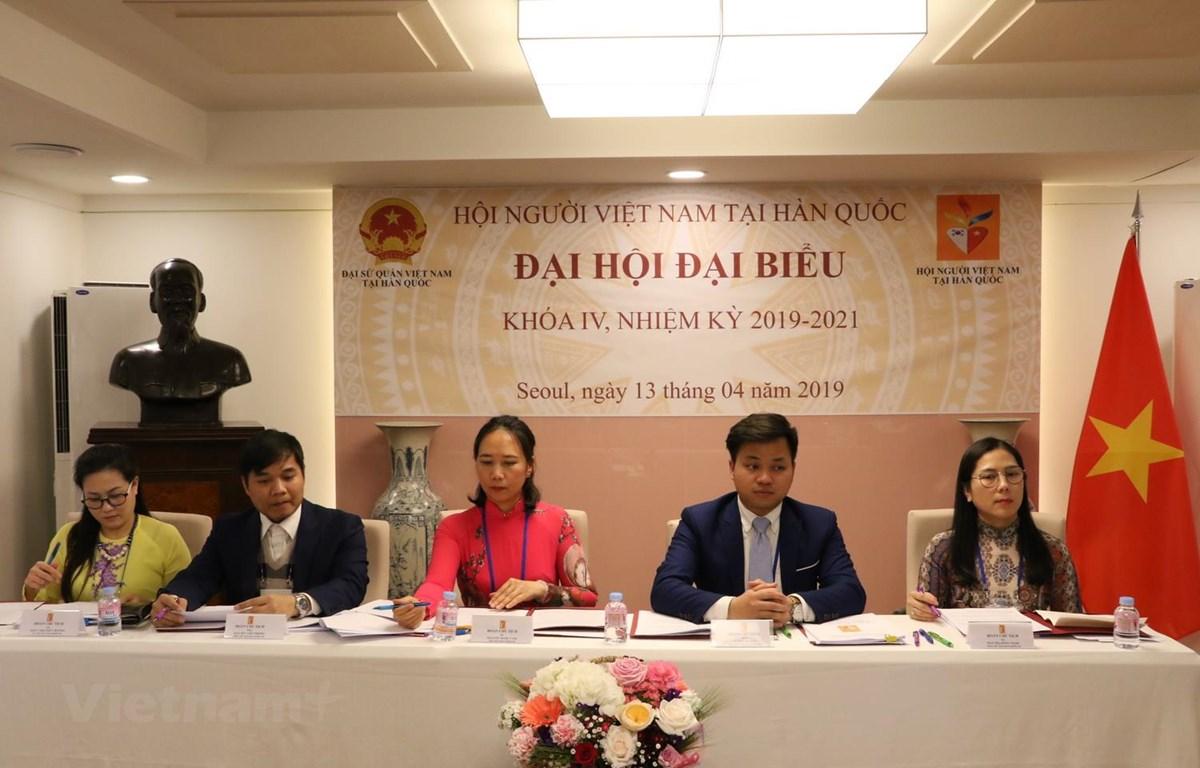 Đoàn Chủ tịch điều hành Đại hội. (Ảnh: PV/Vietnam+)