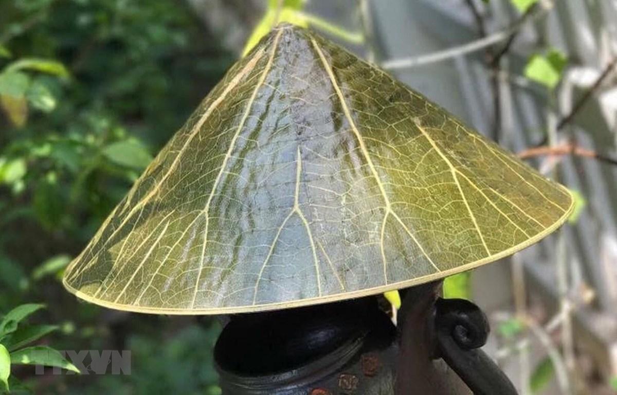 """Sản phẩm """"nón lá sen"""" của Nguyễn Thanh Thảo sẽ được trưng bày tại Festival Nghề truyền thống Huế năm 2019. (Ảnh: Quốc Việt/TTXVN)"""