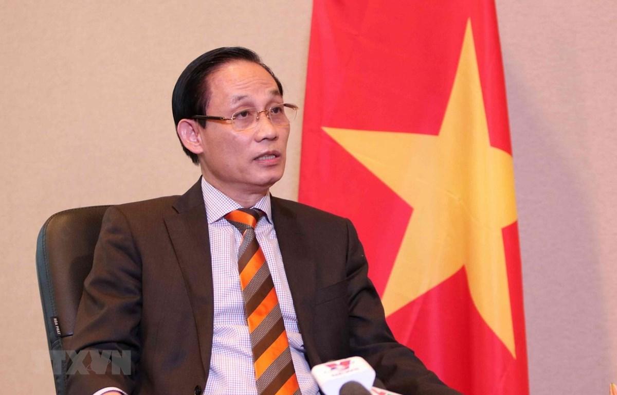 Thứ trưởng Bộ Ngoại giao Lê Hoài Trung. (Ảnh: Văn Điệp/TTXVN)