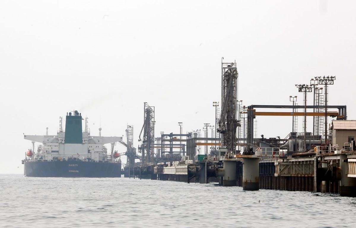 Một cơ sở khai thác dầu trên đảo Khark của Iran ở ngoài khơi vùng Vịnh Persian. (Ảnh: AFP/TTXVN)