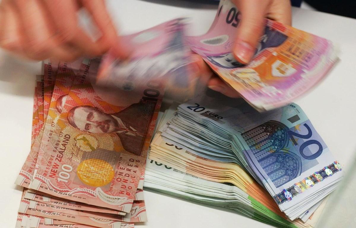 Tiền đôla New Zealand. (Ảnh: AFP/TTXVN)