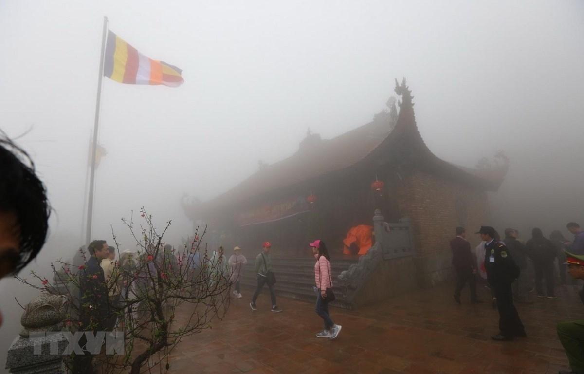 Linh Thông thiền tự Tây Yên Tử trong ngày khánh thành. (Ảnh: Danh Lam/TTXVN)