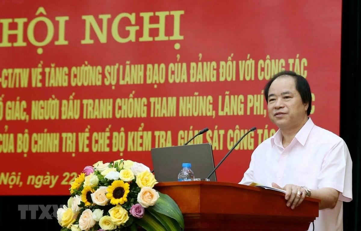 Phó Bí thư Đảng ủy Khối các cơ quan Trung ương Trương Xuân Cừ phát biểu khai mạc hội nghị. (Ảnh: Phương Hoa/TTXVN)