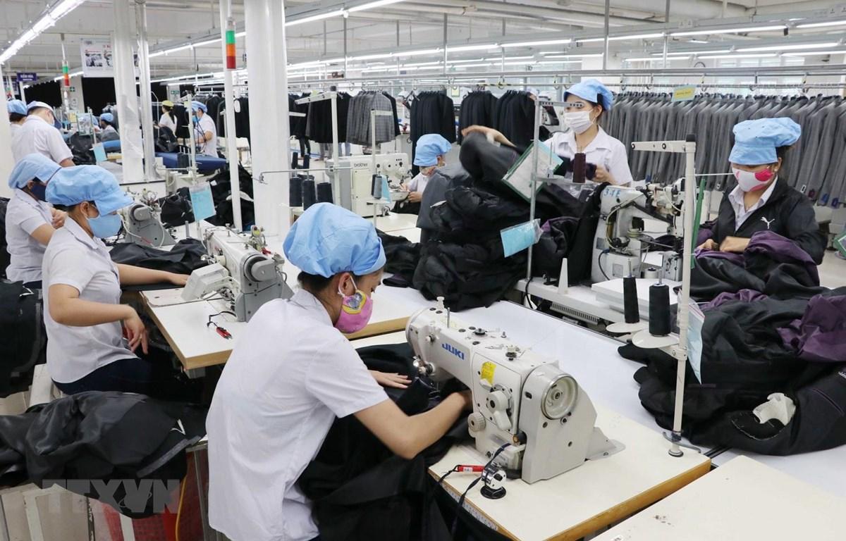 Hàng dệt may là một trong những mặt hàng xuất khẩu của Việt Nam sang Israel. (Ảnh: Trần Lê Lâm/TTXVN)