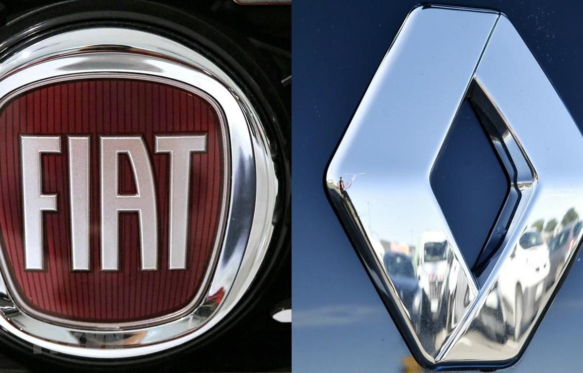 Biểu tượng Fiat (trái) và Renault. (Ảnh: AFP/TTXVN)