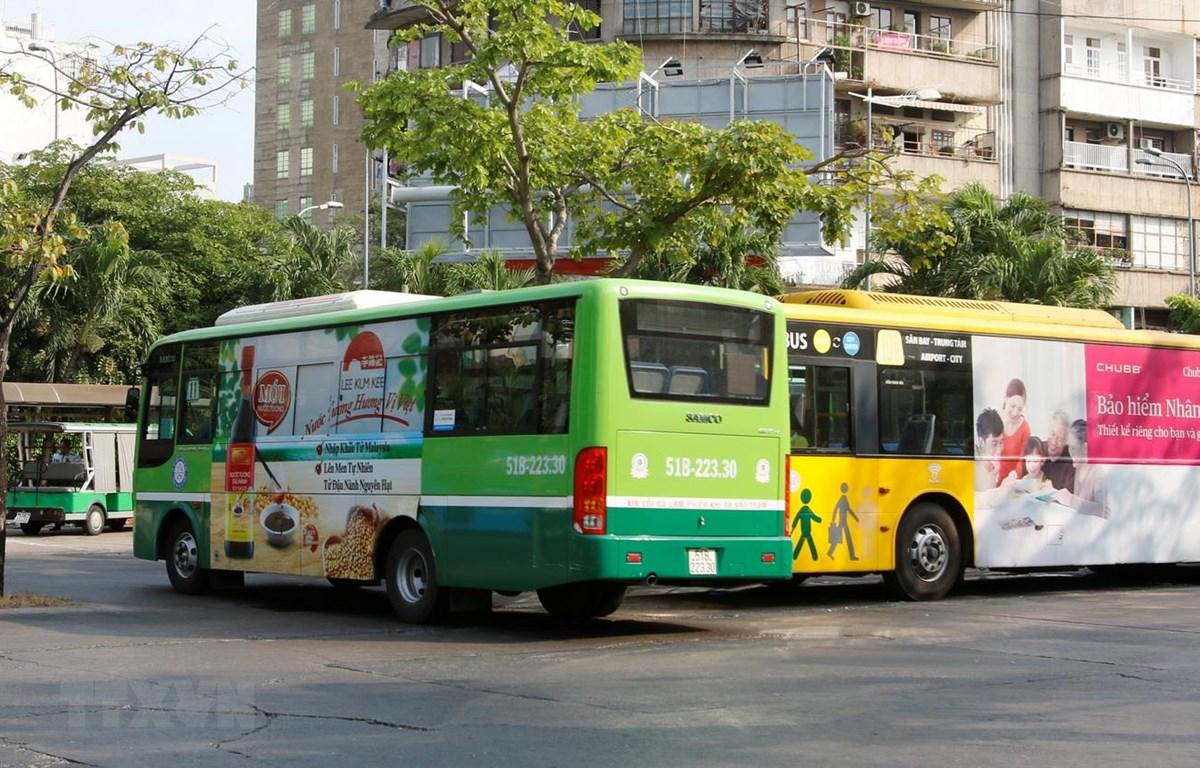 Xe buýt ở TP.HCM. (Ảnh: Hoàng Hải/TTXVN)