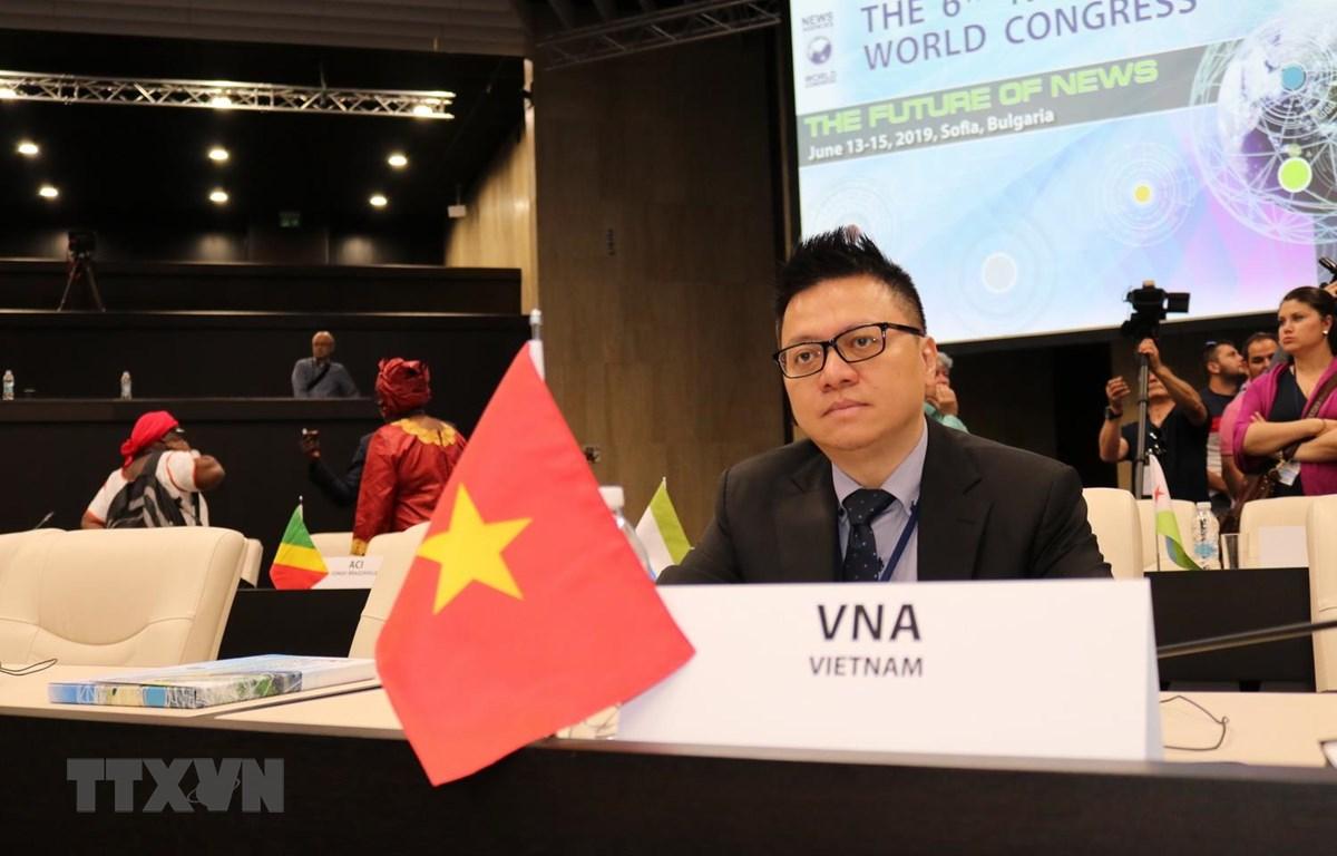 Phó Tổng giám đốc TTXVN Lê Quốc Minh tham dự Lễ khai mạc NAWC lần thứ 6. (Ảnh: Ngọc Biên/TTXVN)