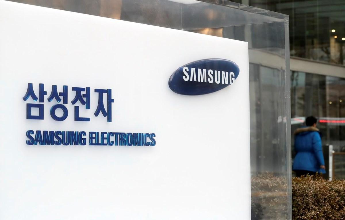 Biểu tượng Samsung tại trụ sở ở Seoul của Hàn Quốc. (Ảnh: Yonhap/TTXVN)