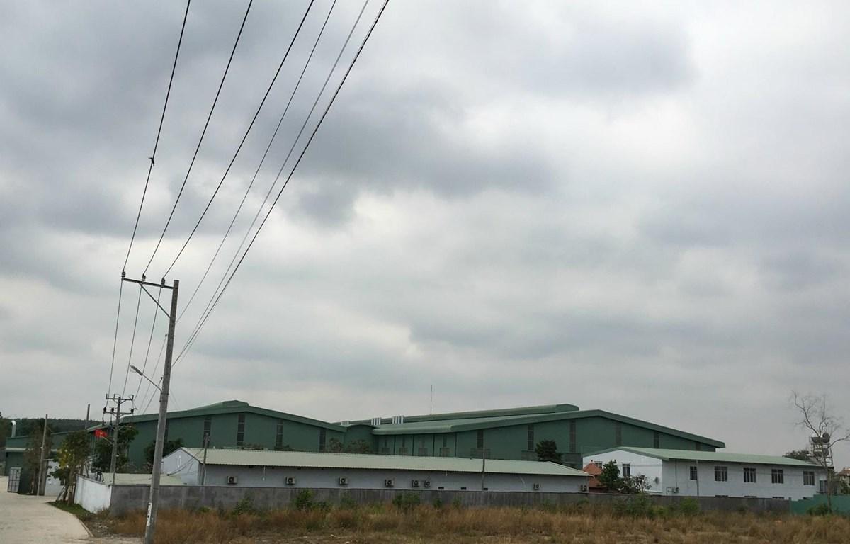 Hàng loạt doanh nghiệp xây dựng nhà máy, kho xưởng quy mô lớn trên đất rừng tại khu quy hoạch cụm công nghiệp Phước Tân. (Ảnh: Sỹ Tuyên/TTXVN)
