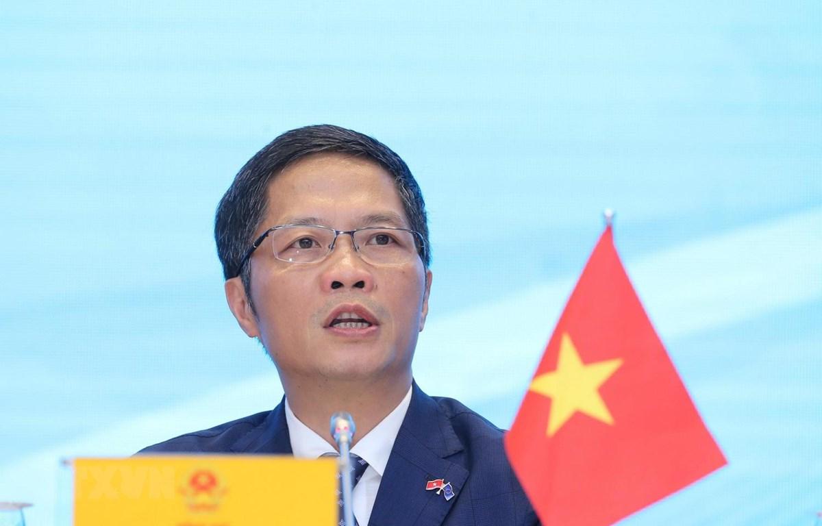 Bộ trưởng Bộ Công thương Trần Tuấn Anh. (Ảnh: Lâm Khánh/TTXVN)