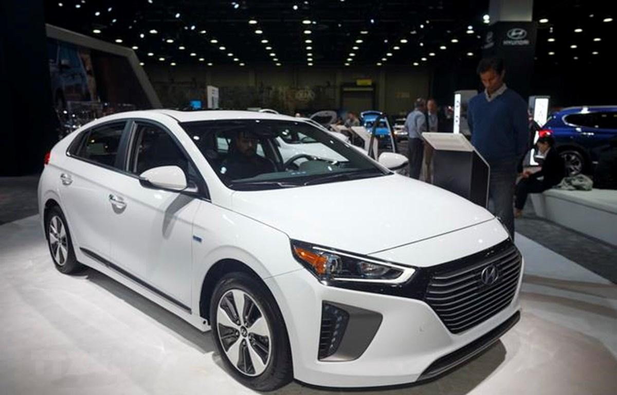 Mẫu xe của hãng Hyundai được giới thiệu tại Triển lãm ôtô quốc tế Bắc Mỹ ở Detroit của Mỹ. (Ảnh: THX/TTXVN)