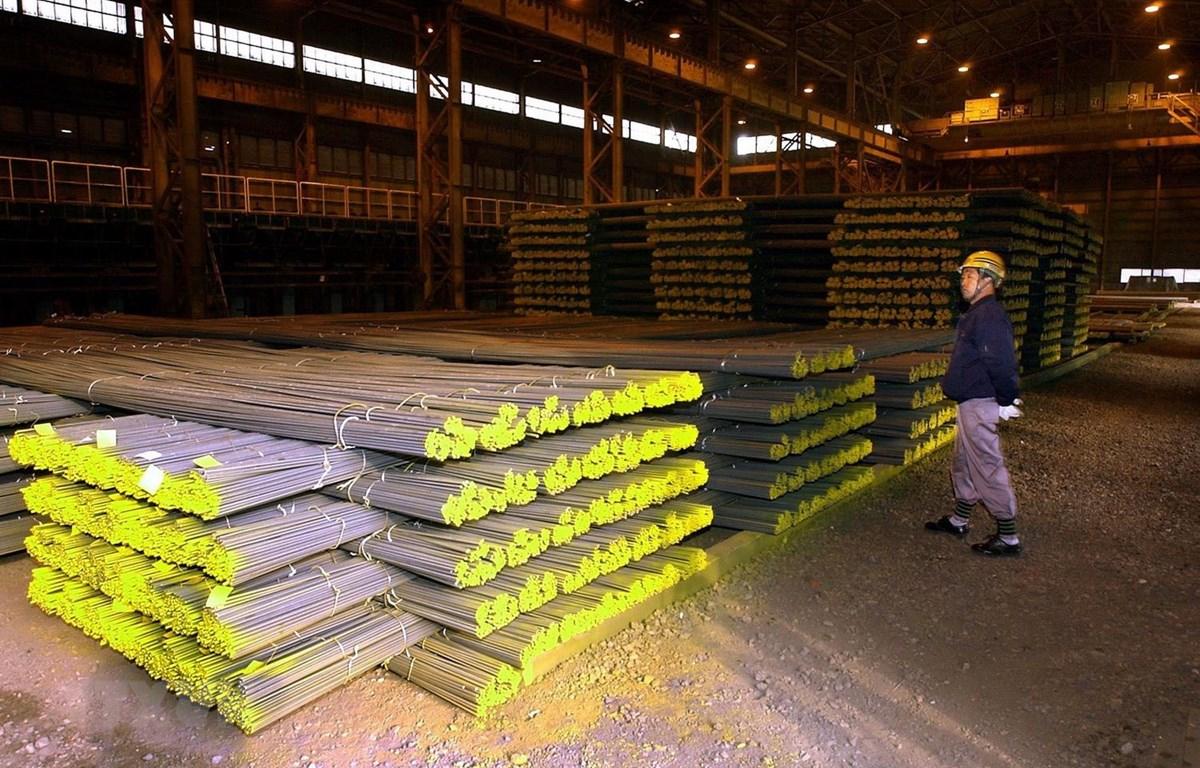Thép được sản xuất tại nhà máy ở Incheon của Hàn Quốc. (Ảnh: AFP/TTXVN)