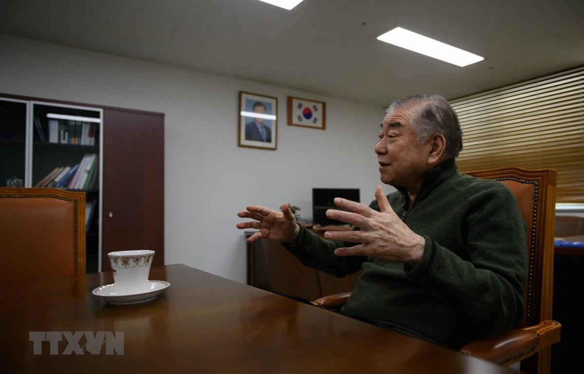 Cố vấn an ninh cấp cao của Tổng thống Hàn Quốc Moon Jae-in, ông Moon Chung-in. (Ảnh: AFP/TTXVN)