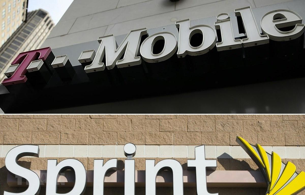 Biểu tượng Sprint và T-Mobile. (Ảnh: AFP/TTXVN)