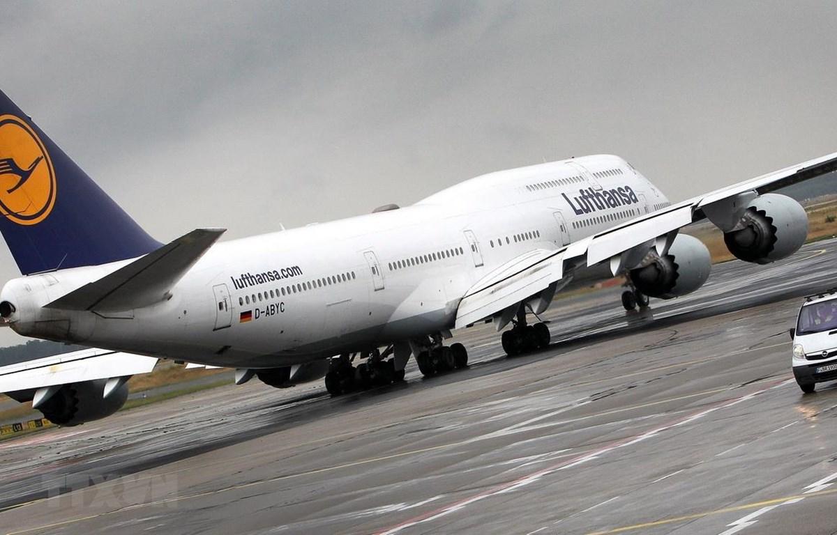 Máy bay thuộc hãng hàng không Lufthansa của Đức đỗ tại sân bay ở Frankfurt am Main. (Ảnh: AFP/TTXVN)