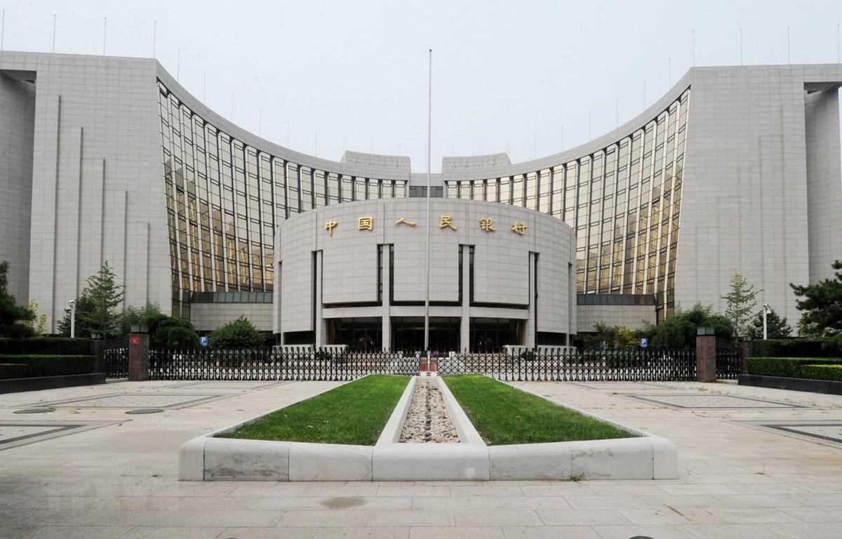 Trụ sở Ngân hàng Nhân dân Trung Quốc (PBOC) tại Bắc Kinh. (Ảnh: AFP/TTXVN)