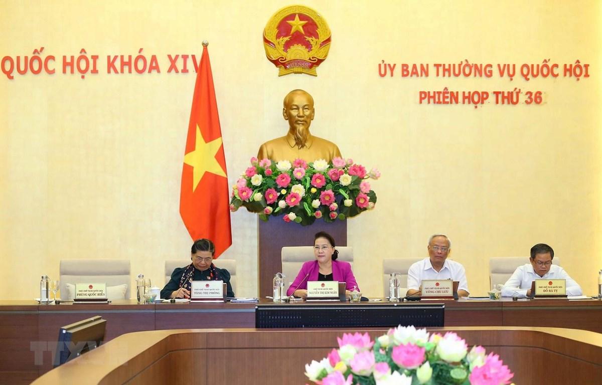 Chủ tịch Quốc hội Nguyễn Thị Kim Ngân phát biểu ý kiến. (Ảnh: Doãn Tấn - TTXVN
