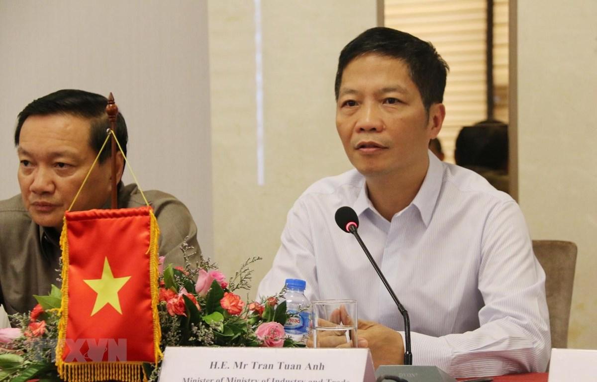 Bộ trưởng Bộ Công Thương Việt Nam Trần Tuấn Anh phát biểu tại hội nghị. (Ảnh: Xuân Tú/TTXVN)