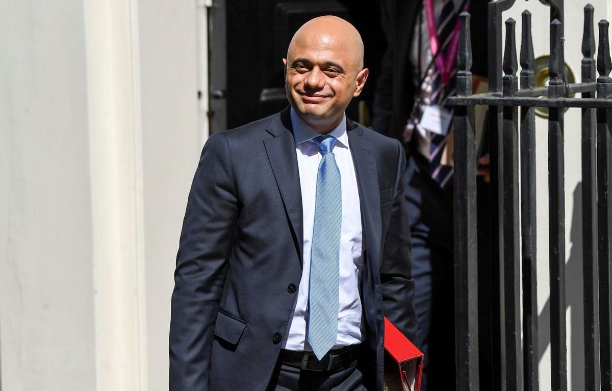 Bộ trưởng Tài chính Anh Sajid Javid. (Ảnh: THX/TTXVN)