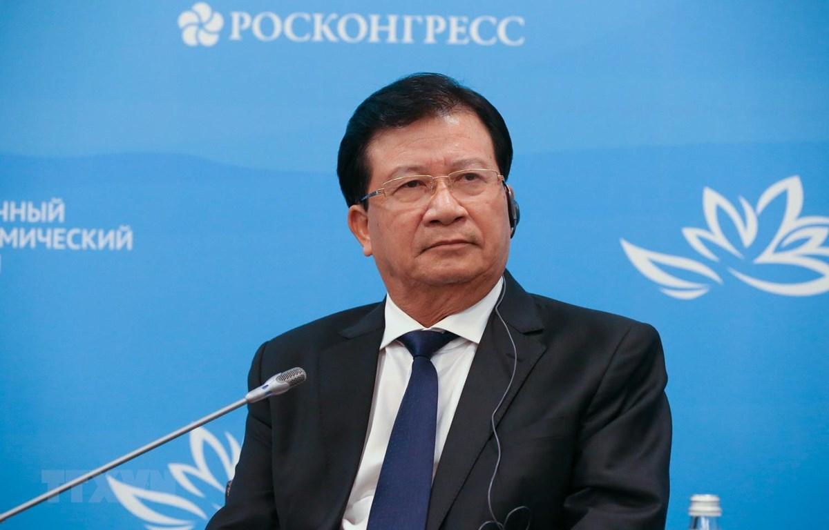 Phó Thủ tướng Chính phủ Trịnh Đình Dũng tại sự kiện. (Ảnh Dương Trí/TTXVN)