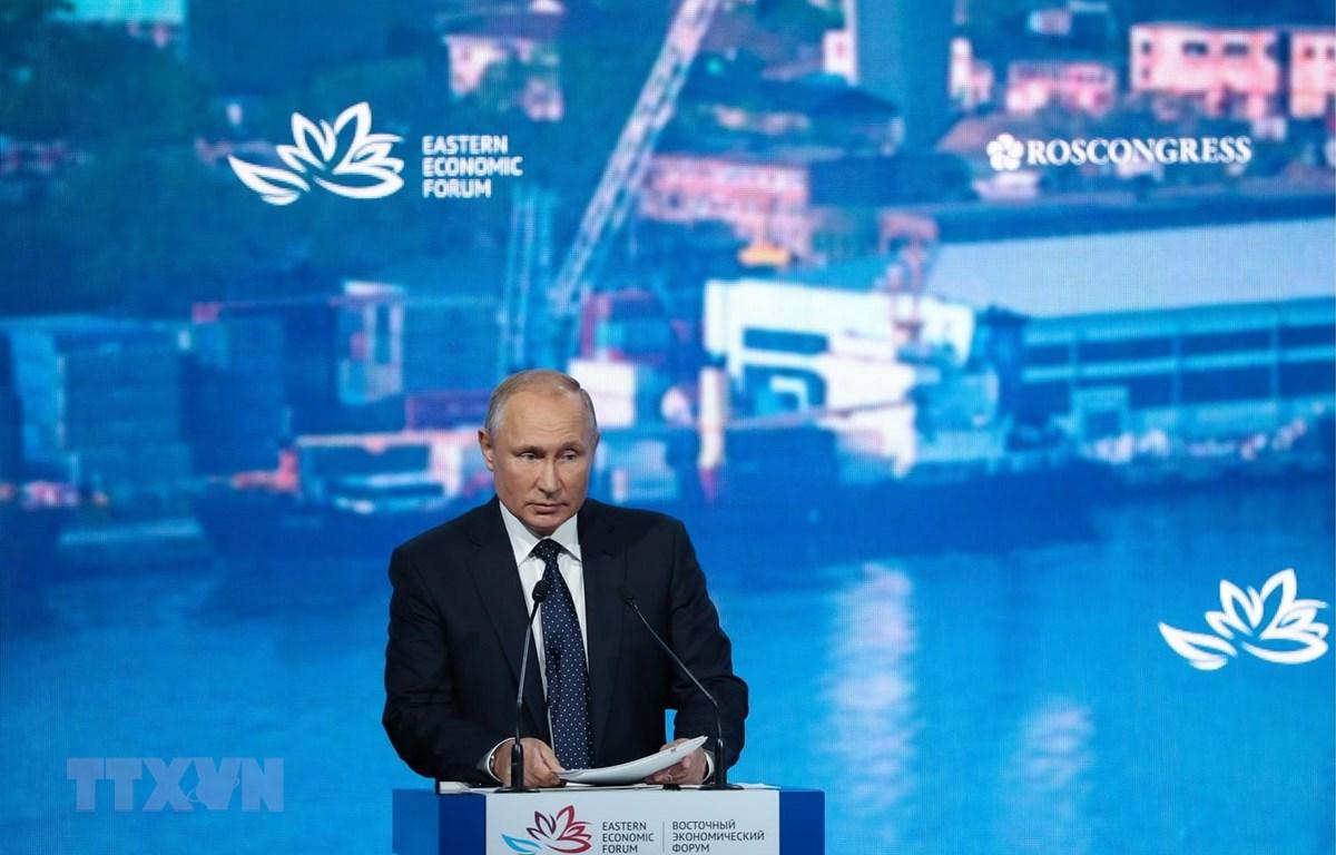 Tổng thống Nga Vladimir Putin. (Ảnh: Duy Trinh/TTXVN)