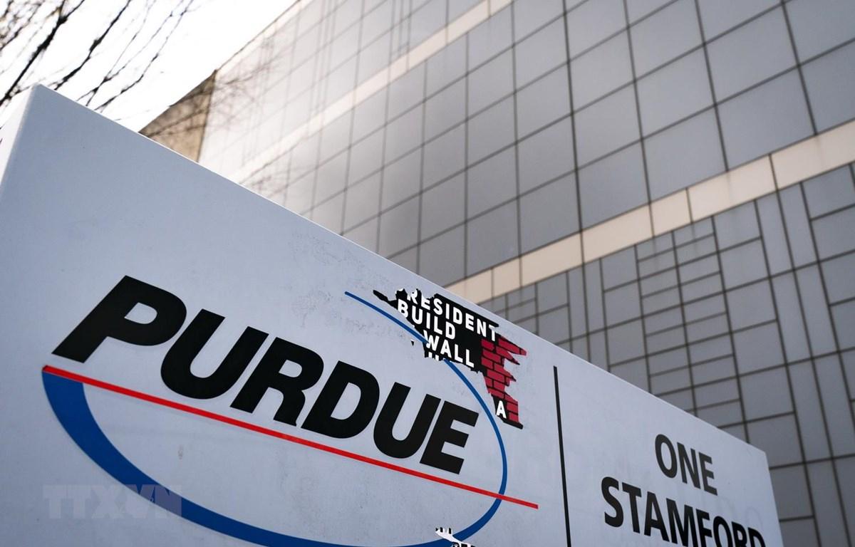 Trụ sở Purdue Pharma ở Stamford, bang Connecticut của Mỹ. (Ảnh: AFP/TTXVN)