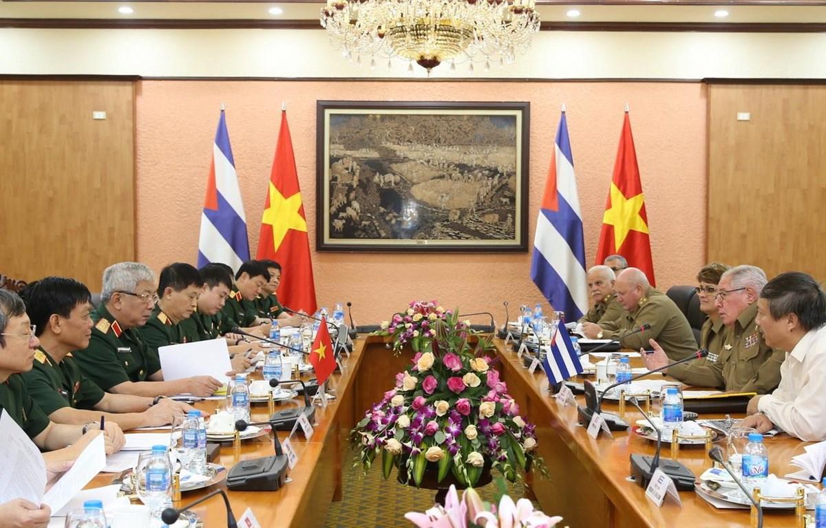 Quang cảnh buổi Đối thoại Chính sách Quốc phòng Việt Nam-Cuba lần thứ 3. (Ảnh: Dương Giang/TTXVN)