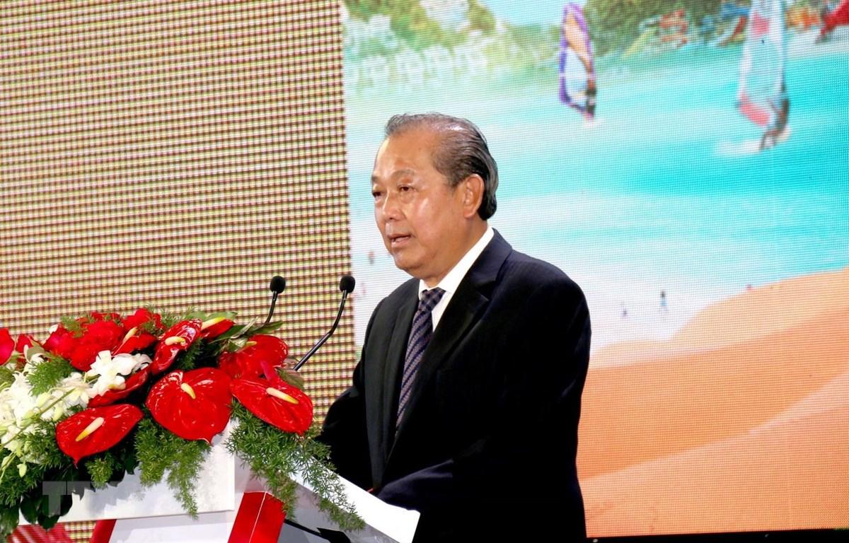 Phó Thủ tướng Thường trực Trương Hòa Bình phát biểu tại Hội nghị. (Ảnh: Nguyễn Thanh/TTXVN)