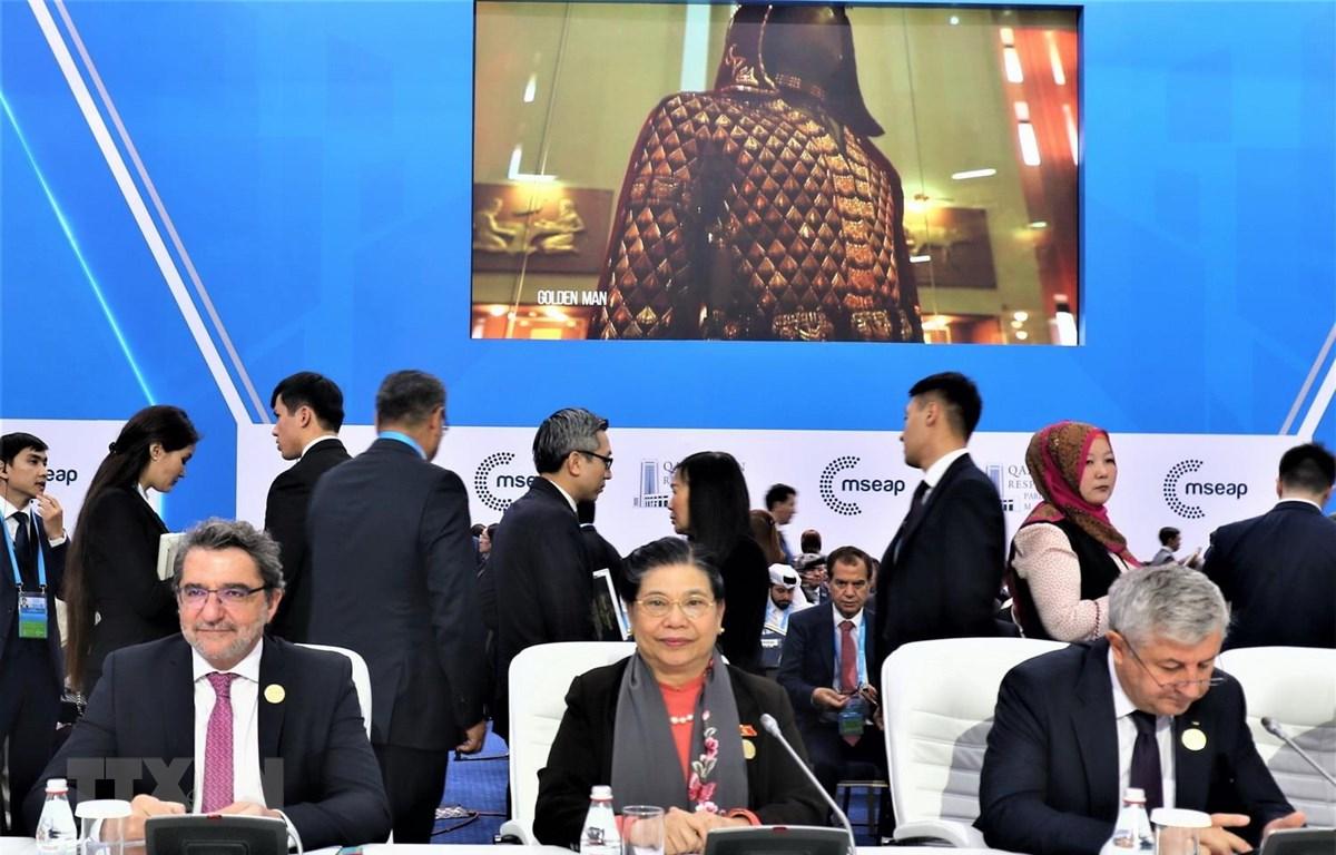 Phó Chủ tịch Thường trực Quốc hội Tòng Thị Phóng tham dự lễ khai mạc Hội nghị Chủ tịch Quốc hội các nước Á Âu lần thứ 4. (Ảnh: Dương Trí/TTXVN)