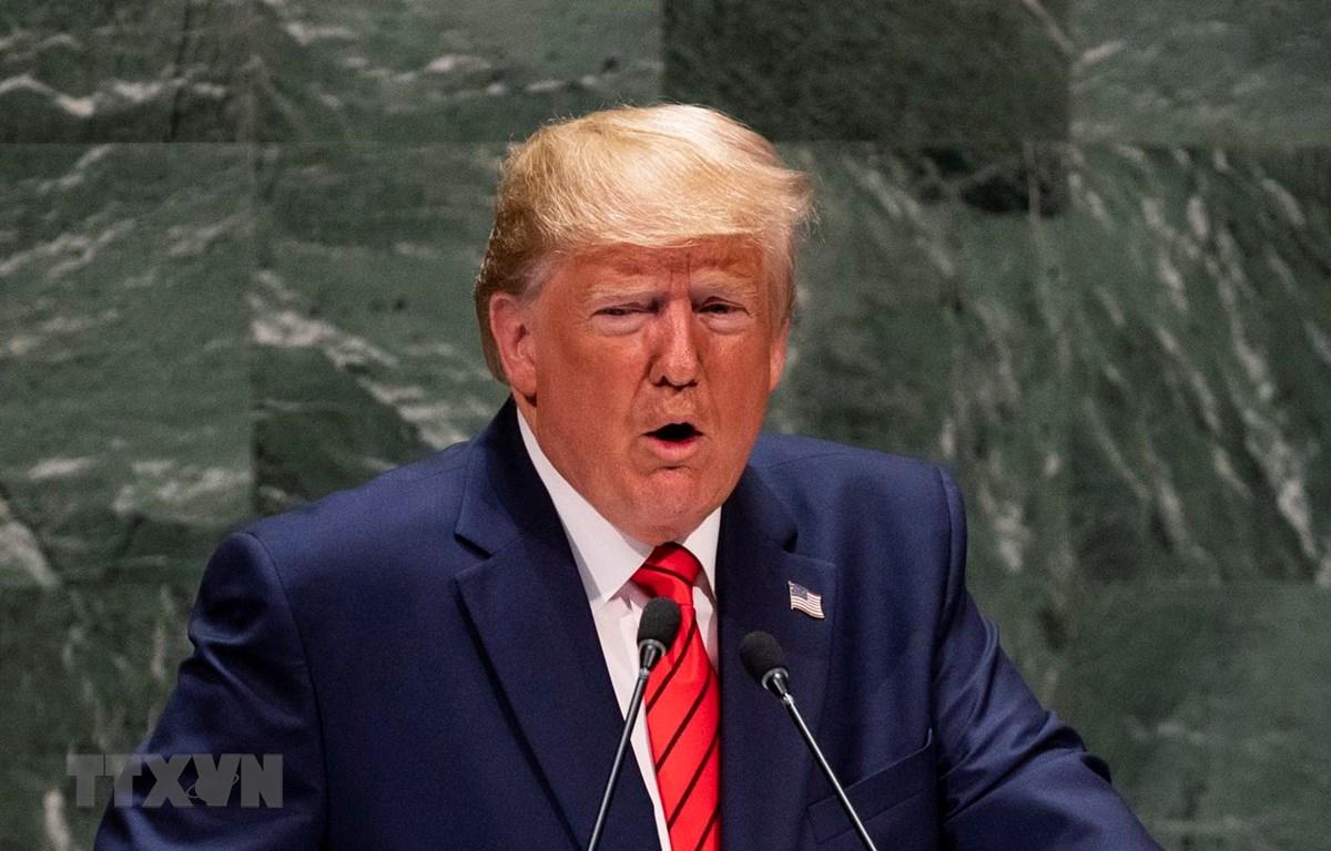 Tổng thống Donald Trump. (Ảnh: AFP/TTXVN)