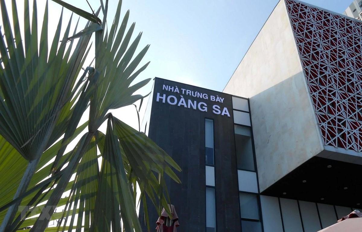 Nhà trưng bày Hoàng Sa tại thành phố Đà Nẵng. (Ảnh: Grigory Trofimchuk/TTXVN phát)