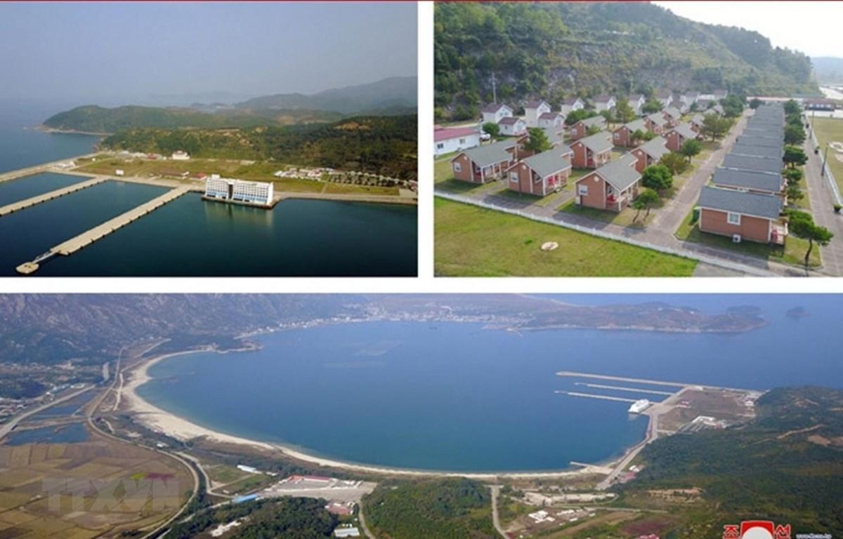 Khu du lịch núi Kumgang ở bờ biển phía Đông Triều Tiên. (Ảnh: Yonhap/TTXVN)
