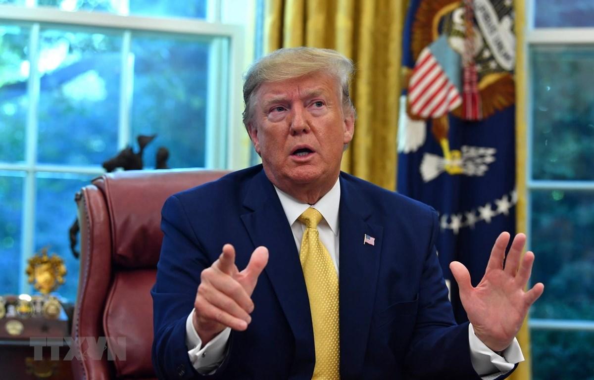 Tổng thống Mỹ Donald Trump. (Ảnh: AFP/TTXVN)