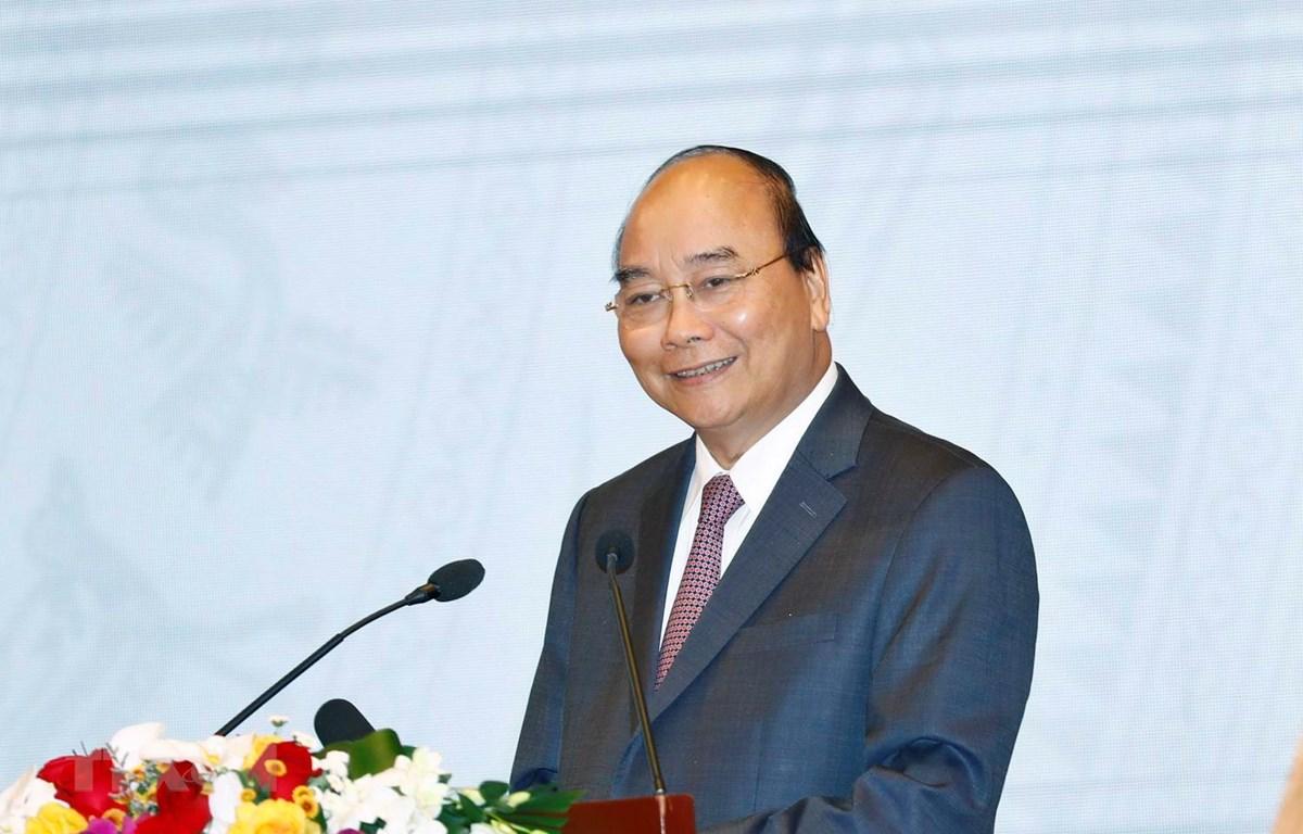 Thủ tướng Nguyễn Xuân Phúc phát biểu. (Ảnh: Thống Nhất/TTXVN)