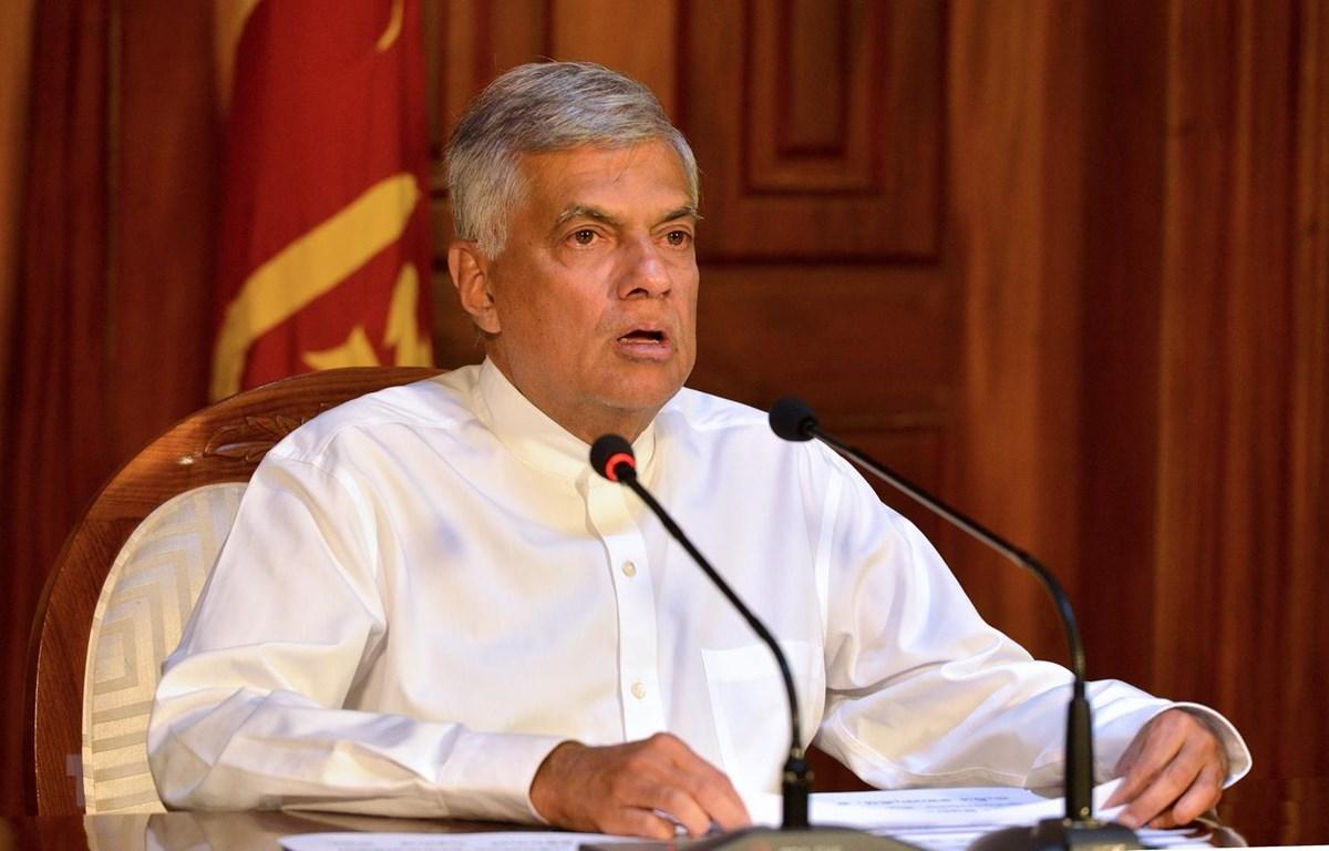 Thủ tướng Sri Lanka Ranil Wickremesinghe. (Ảnh: AFP/TTXVN)