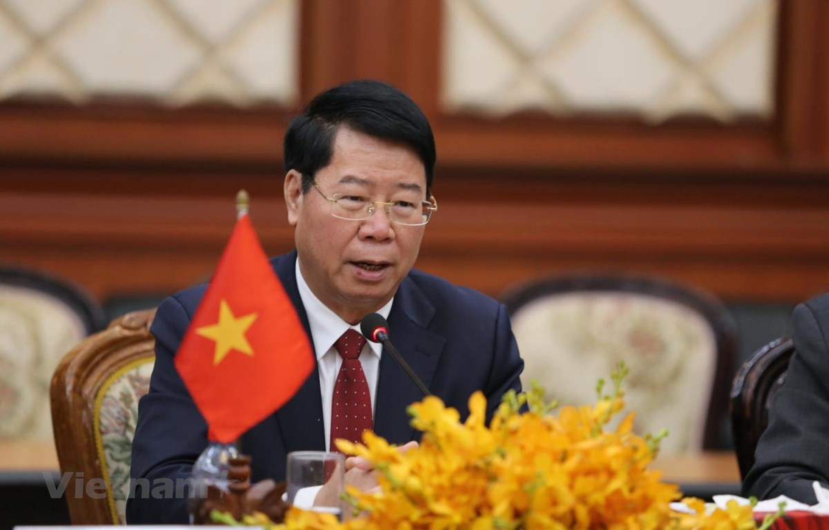 Thứ trưởng Bùi Văn Nam phát biểu tại cuộc họp. (Ảnh: Long-Hùng-Trang/Vietnam+)