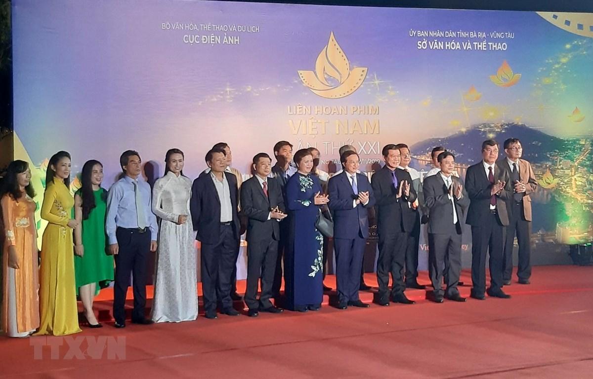 Các đại biểu dự Liên hoan Phim Việt Nam lần thứ XXI. (Ảnh: Ngọc Sơn/TTXVN)