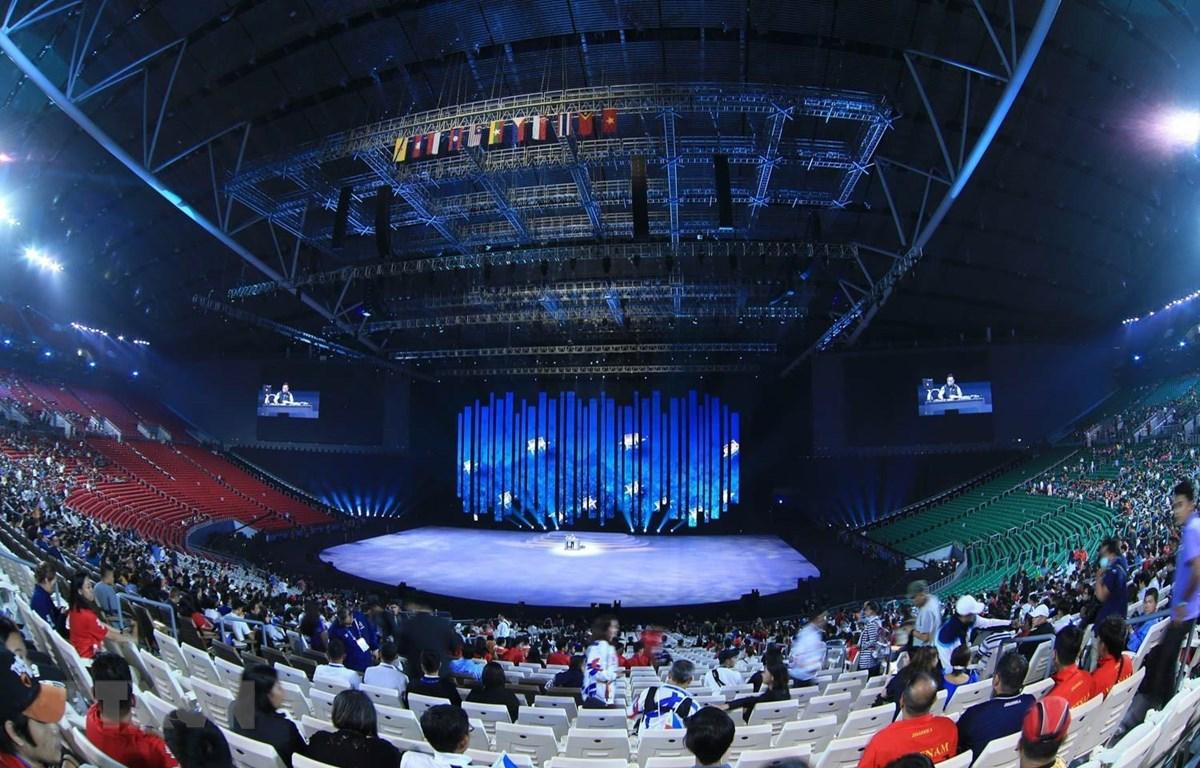 Khung cảnh bên trong Philippines Arena Complex. (Ảnh: Hoàng Linh/TTXVN)