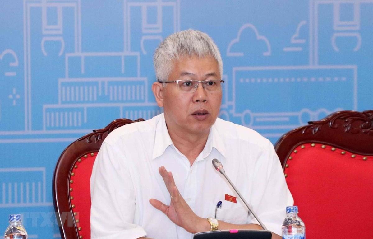 Phó Chủ nhiệm Ủy ban Kinh tế của Quốc hội Nguyễn Đức Kiên phát biểu tại buổi tọa đàm. (Ảnh: Văn Điệp/TTXVN)