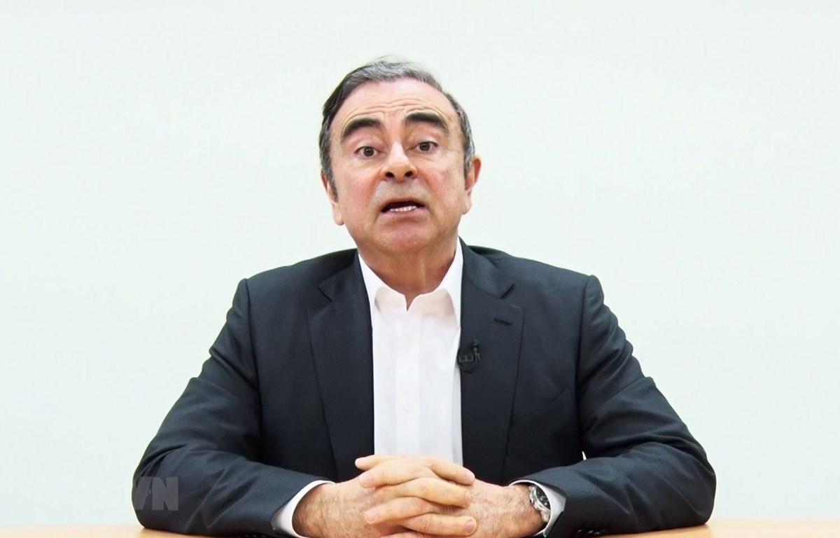 Cựu Chủ tịch hãng sản xuất ôtô Nissan Motor Co. của Nhật Bản Carlos Ghosn. (Ảnh: AFP/TTXVN)
