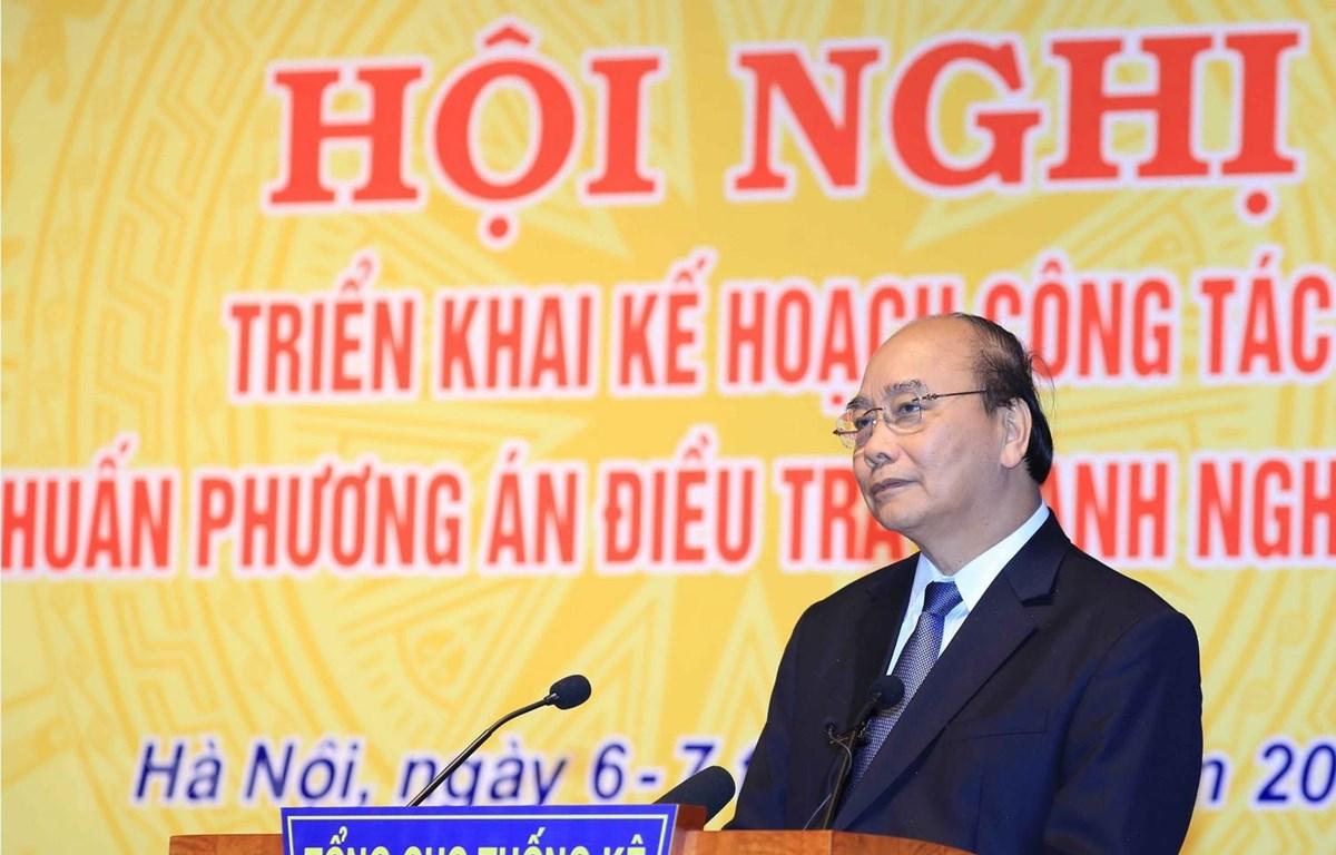 Thủ tướng Nguyễn Xuân Phúc phát biểu chỉ đạo hội nghị. (Ảnh: Thống Nhất/TTXVN)