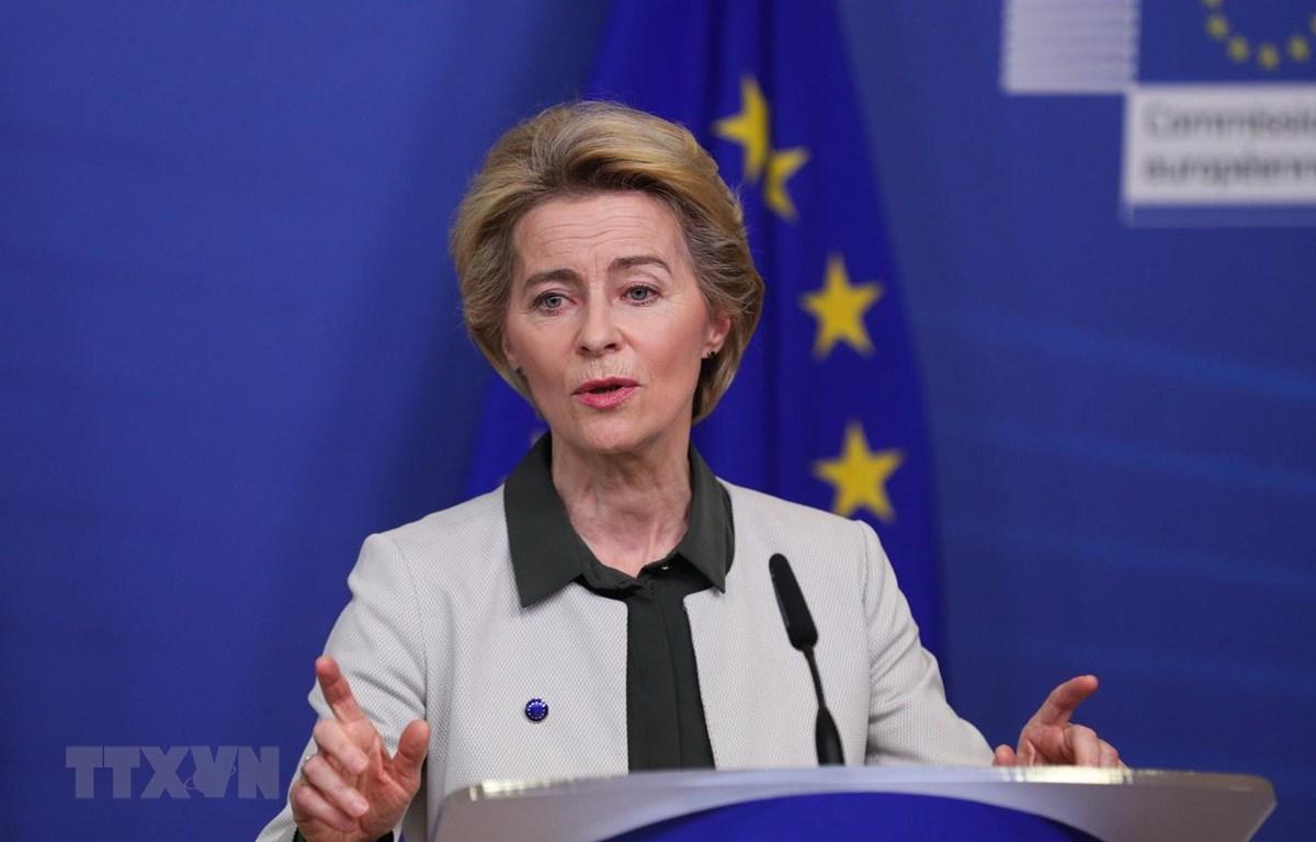 Chủ tịch EC Ursula von der Leyen. (Ảnh: THX/TTXVN)