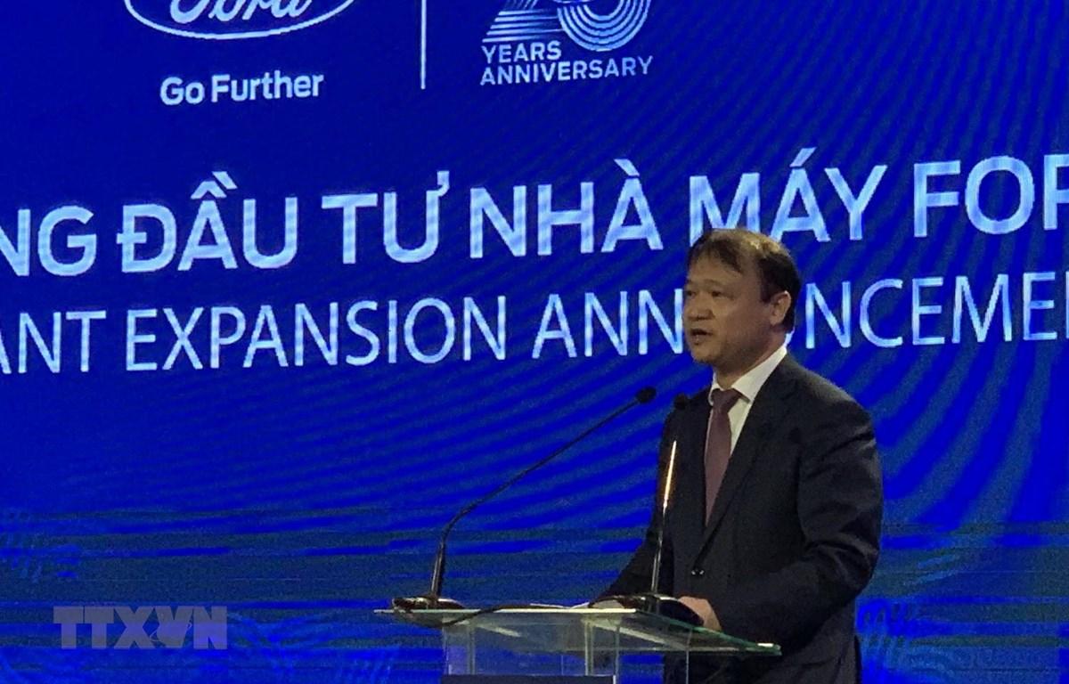 Thứ trưởng Bộ Công Thương Đỗ Thắng Hải phát biểu tại lễ công bố. (Ảnh: Mạnh Tú/TTXVN)