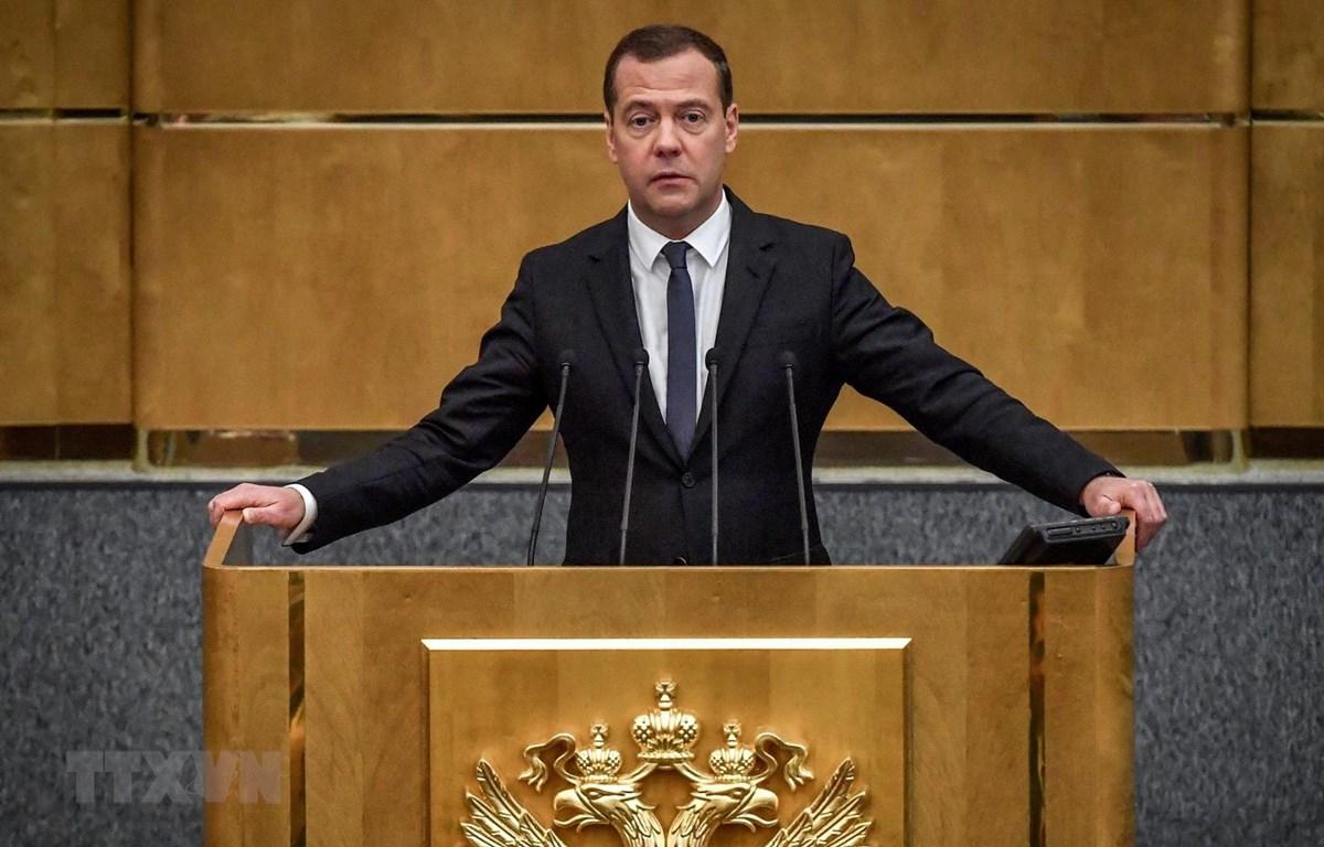 Thủ tướng Nga Dmitry Medvedev. (Ảnh: AFP/TTXVN)