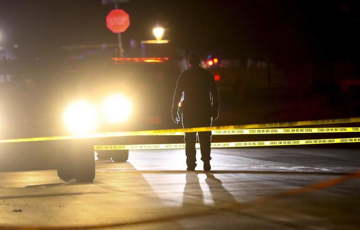 Cảnh sát điều tra vụ xả súng ngày 17/1 tại Utah. (Nguồn: AP)