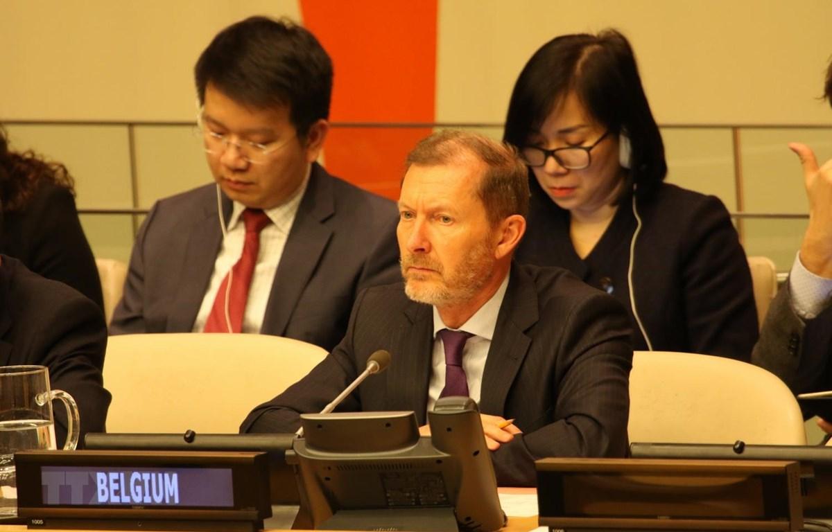 Đại sứ Bỉ tại Liên hợp quốc Marc Pecsteen de Buytswerve, nước đảm nhận vị trí Chủ tịch HĐBA tháng 2/2020. (Ảnh: Hữu Thanh/TTXVN)