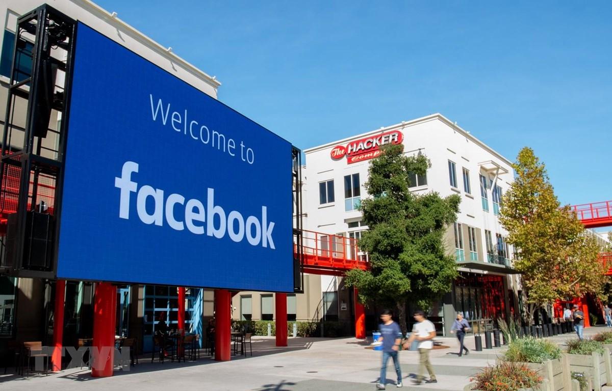 Trụ sở của Công ty Facebook Inc ở California, Mỹ. (Ảnh: AFP/TTXVN)