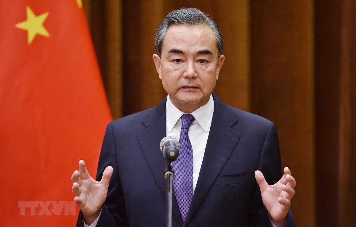 Ủy viên Quốc vụ, Bộ trưởng Ngoại giao Trung Quốc Vương Nghị. (Ảnh: AFP/TTXVN)