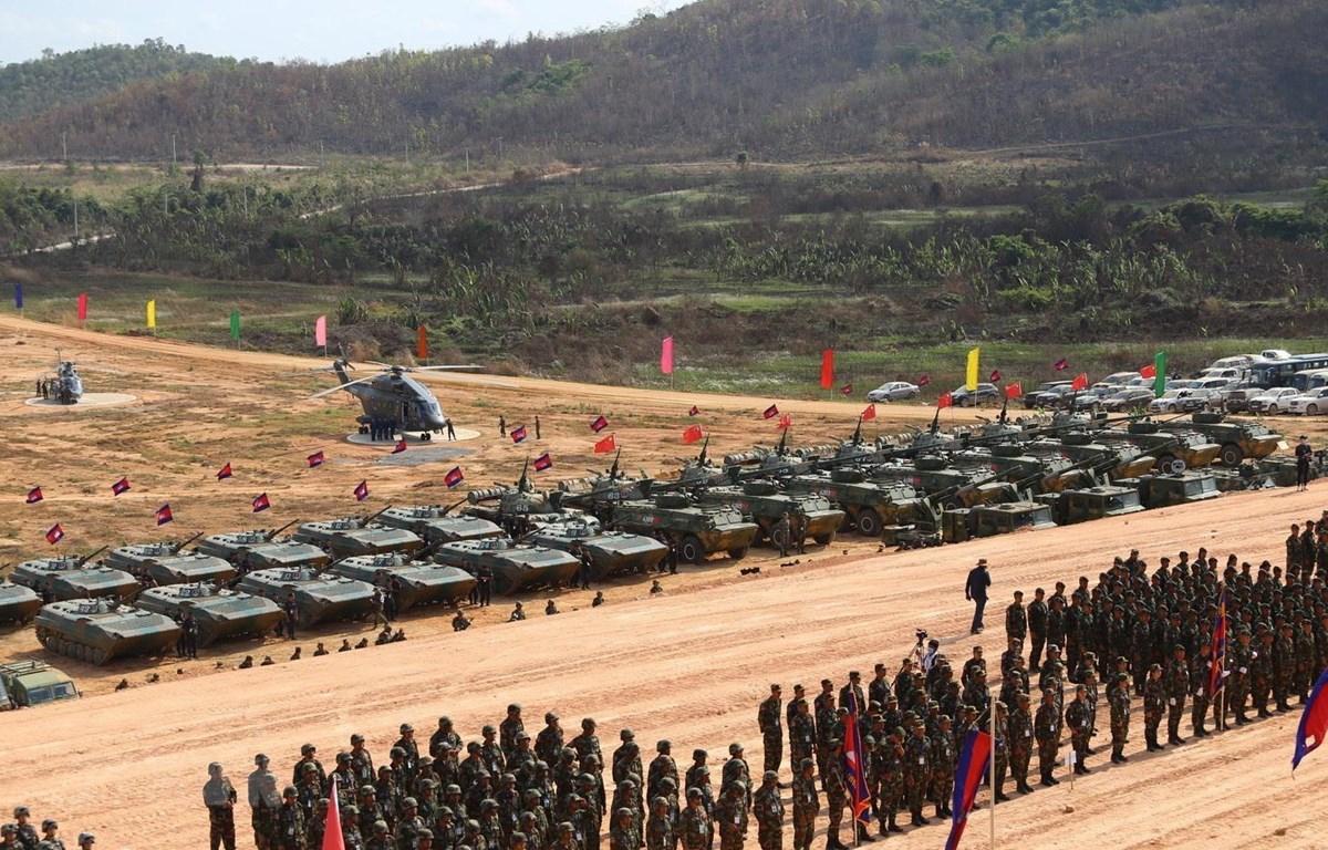 Quang cảnh lễ khai mạc diễn tập quân sự Rồng Vàng 2020. (Ảnh: Nguyễn Hùng Vũ/TTXVN)
